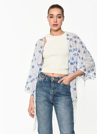 Twist Kimono Beyaz